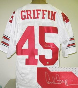 Archie Griffin Autographed White Ohio State Jersey-0