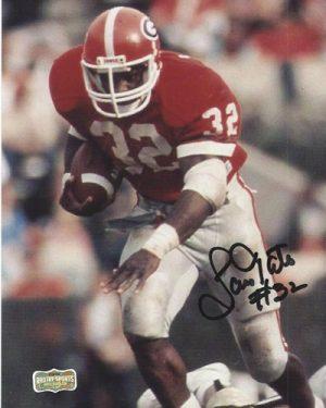 Lars Tate Autographed/Signed Vintage Georgia Bulldogs 8x10 NCAA Photo Running-0