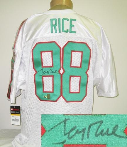 Jerry Rice Autographed Mississippi Valley State Jersey-0