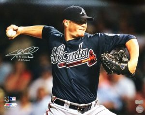 Craig Kimbrel Autographed/Signed Atlanta Braves 16X20 Rookie Saves Record 8-31-2011 MLB-0