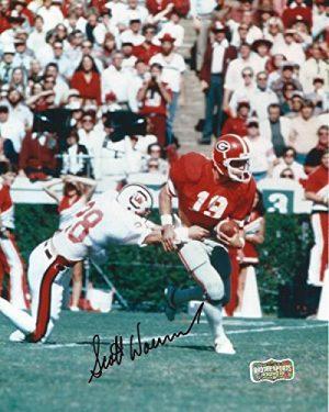 Scott Woerner Autographed/Signed Classic Georgia Bulldogs 8x10 NCAA Photo Running-0