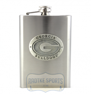 Georgia Bulldogs NCAA 8 oz. Stainless Steel Flask - Pewter Emblem-0