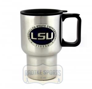 LSU Tigers NCAA 14 oz. Stainless Steel Travel Mug - Purple-0