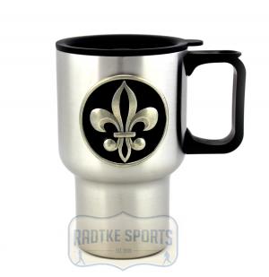 New Orleans Saints 14 oz. Stainless Steel Travel Mug - Black-0