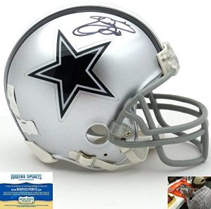 Emmitt Smith Autographed/Signed Dallas Cowboys Riddell NFL Mini Helmet-0