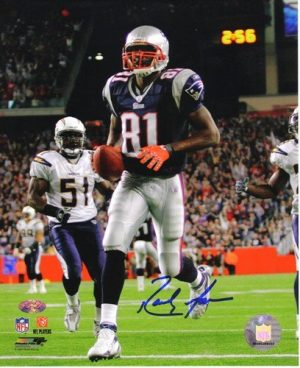 "Randy Moss Autographed/Signed New England Patriots 16x20 NFL Photo ""Touchdown""-0"
