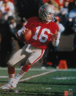 "Joe Montana Autographed/Signed San Francisco 49ers 16x20 NFL Photo ""Drop Back""-0"