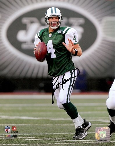 Brett Favre Autographed New York Jets 16x20 Photo-0