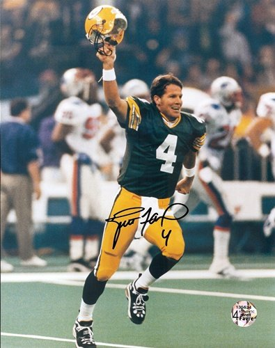 "Brett Favre Autographed/Signed Green Bay Packers 8x10 NFL Photo ""The Kid""-0"