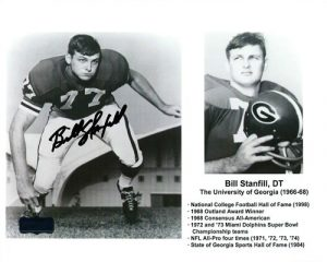 Bill Stanfill Autographed/Signed Georgia Bulldogs Career Highlight Collage 8x10 NCAA Photo-0