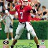 Matthew Stafford Autographed/Signed Georgia Bulldogs 8x10 NCAA Photo Red Jersey-0