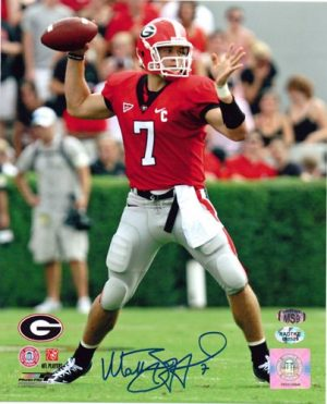 Matthew Stafford Autographed/Signed Georgia Bulldogs 8x10 NCAA Photo Red Jersey-0