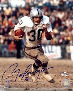 Mark Van Eeghen Autographed Oakland Raiders 8x10 Photo-0