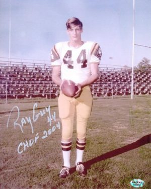 Ray Guy Autographed/Signed Southern Miss Golden Eagles 8x10 Photo CHOF 2004-0
