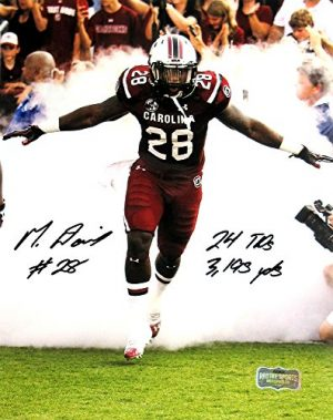 Mike Davis Autographed/Signed South Carolina Gamecocks 8x10 NCAA Photo with Career Stats Inscription-0