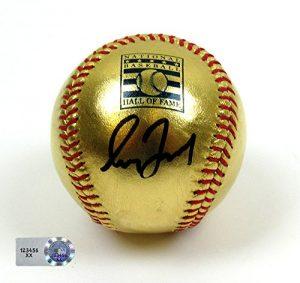 Greg Maddux Autographed/Signed Hall of Fame Commemorative Rawlings 24 Karat Gold Major League Baseball #3 - MLB Authenticated-0