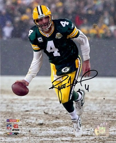 "Brett Favre Autographed/Signed Green Bay Packers 8x10 NFL Photo ""The Flip""-0"