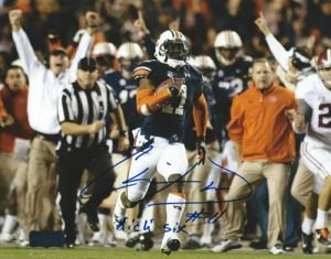 Chris Davis Autographed/Signed Auburn Tigers 8x10 NCAA Photo with Kick Six Inscription-0