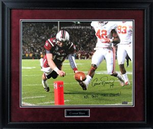 "Connor Shaw Autographed/Signed South Carolina Gamecocks Framed 16x20 Action Photo with ""We Own This State"" Inscription-0"