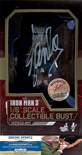 Stan Lee Autographed/Signed Marvel Iron Man 3 Iron Patriot 1:6 Scale Collectible Bust-0