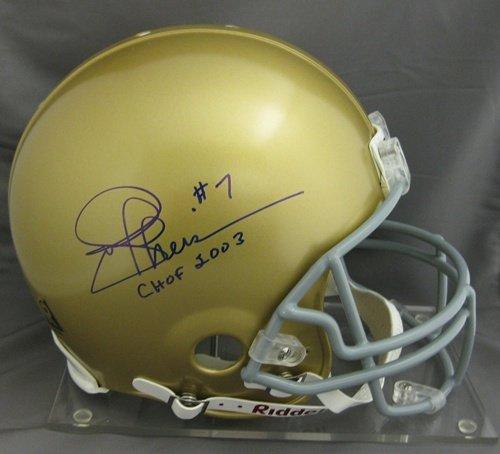 Joe Theismann Autographed Notre Dame Proline Helmet-0