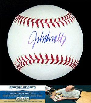 John Smoltz Autographed/Signed Atlanta Braves Rawlings Official Major League Baseball-0