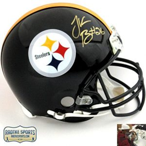 Le'Veon Bell Autographed/Signed Pittsburgh Steelers Riddell Authentic NFL Helmet-0