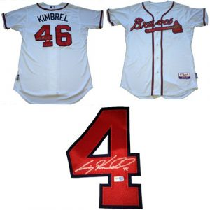 Craig Kimbrel Autographed/Signed Atlanta Braves Majestic Cool Base Authentic MLB Jersey-0