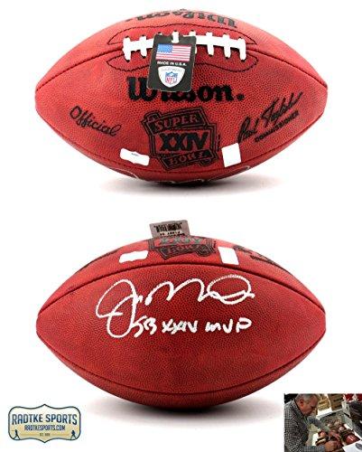 "Joe Montana Autographed/Signed San Francisco 49ers Throwback Authentic Super Bowl 24 NFL Football with ""SB XXIV MVP"" Inscription-0"