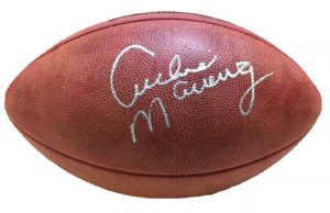 Archie Manning Autographed/Signed Official Throwback Wilson Authentic NFL Football-0