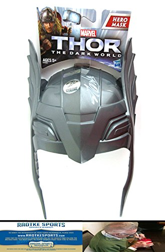 Stan Lee Autographed/Signed Hasbro Marvel Thor: The Dark World Costume Hero Mask - White-0