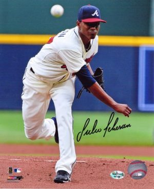 Julio Teheran Autographed/Signed Atlanta Braves 8x10 MLB Photo White Jersey-0