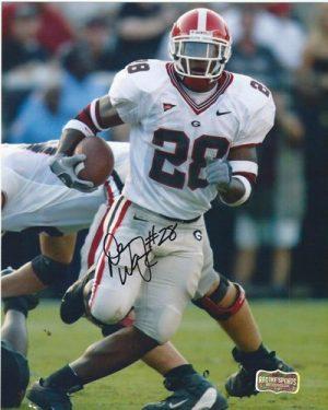 Danny Ware Autographed/Signed Classic Georgia Bulldogs 8x10 NCAA Photo White Jersey-0