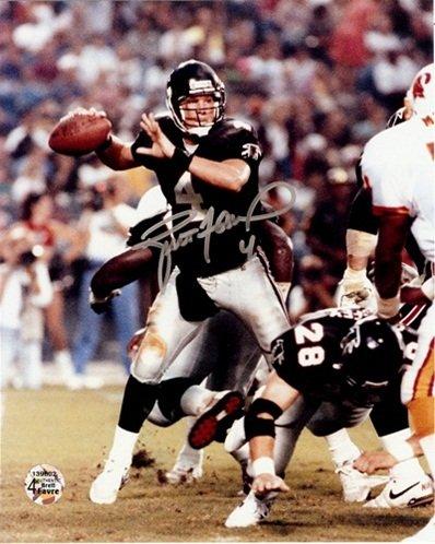 "Brett Favre Autographed/Signed Atlanta Falcons 8x10 NFL Photo ""Action Shot""-0"