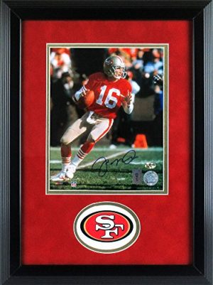 "Joe Montana Autographed/Signed San Francisco 49ers Framed 8x10 NFL Photo - ""Dropping Back""-0"