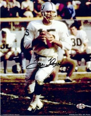 "Tom Flores Autographed/Signed Oakland Raiders 8x10 NFL Photo ""Passing""-0"