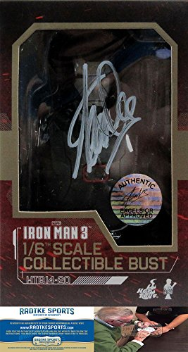 Stan Lee Autographed/Signed Marvel Iron Man 3 War Machine Mark II 1:6 Scale Collectible Bust-0