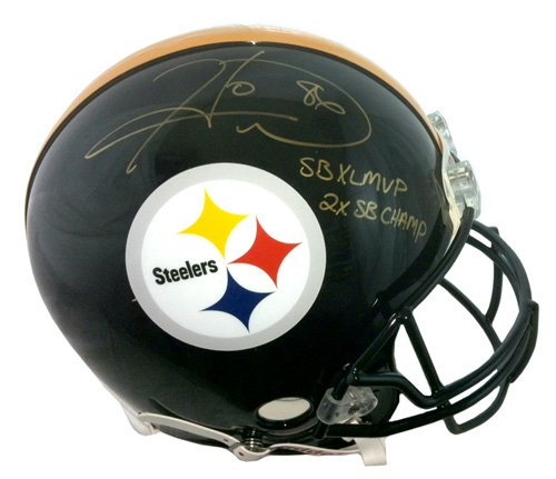 17501f874 Hines Ward Autographed Signed Pittsburgh Steelers Full Size Riddell  Authentic NFL Helmet with SB XL