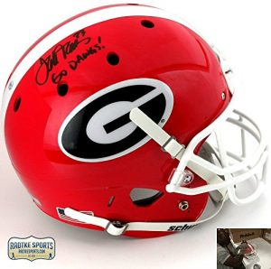 "Terrell Davis Autographed/Signed Georgia Bulldogs Schutt Full Size NCAA Helmet with ""Go Dawgs!"" Inscription-0"