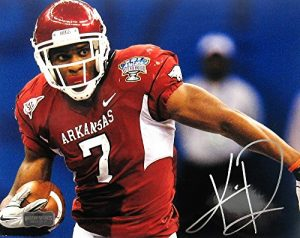 "Knile Davis Autographed/Signed Arkansas Razorbacks 8x10 NCAA Photo ""Sugar Bowl""-0"