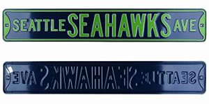 Seattle Seahawks Avenue Officially Licensed Authentic Steel 36x6 Navy & Green NFL Street Sign-0