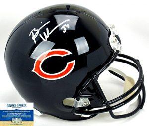 Brian Urlacher Autographed/Signed Chicago Bears Riddell Full Size NFL Helmet-0
