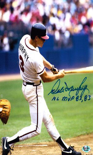 Dale Murphy Autographed/Signed Atlanta Braves 16x20 Photo 82, 83 MVP-0