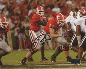 Dennis Roland Autographed/Signed Classic Georgia Bulldogs 8x10 NCAA Photo Red Jersey-0