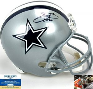 Emmitt Smith Autographed/Signed Dallas Cowboys Riddell Full Size NFL Helmet-0