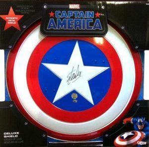 Stan Lee Autographed/Signed Captain America Shield Stan Lee Hologram Avengers Marvel-0
