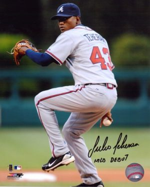 Julio Teheran Autographed/Signed Atlanta Braves 8x10 MLB Photo MLB Debut-0