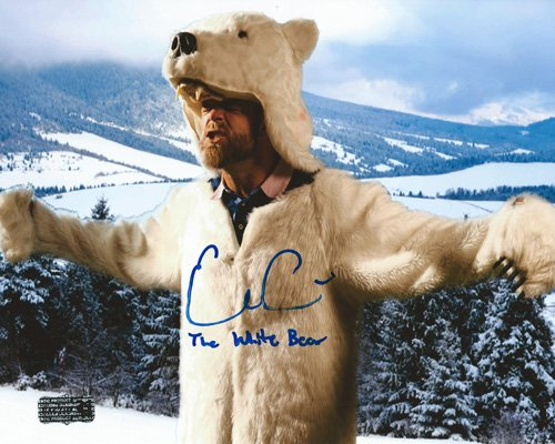 Evan Gattis Autographed/Signed Atlanta Braves 8x10 MLB Photo with The White Bear Inscription-0