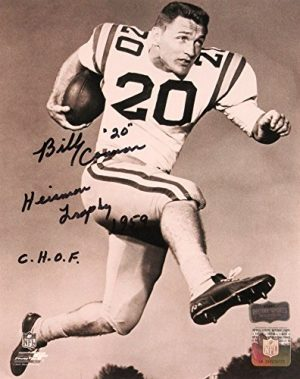 "Billy Cannon Autographed/Signed LSU Tigers 8x10 NCAA Posing Photo with ""Heisman Trophy 1959 - CHOF"" Inscription-0"