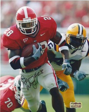 Danny Ware Autographed/Signed Classic Georgia Bulldogs 8x10 NCAA Photo Red Jersey-0